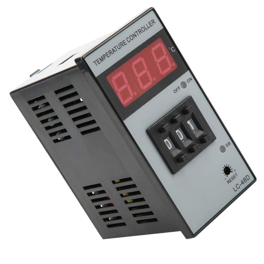 Temperature Controller,Akozon Digital Thermostat LC-48D-RPK3 Temperature Control Instrument