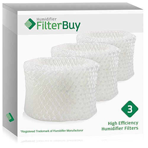FilterBuy Honeywell HAC-504AW Compatible Humidifier Filters (Pack of 3). Designed by FilterBuy to fit Honeywell HCM-600, HCM-710, HCM-300T & HCM-315T. Compare to Part # HAC-504AW / HAC-504.