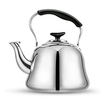 AMFOCUS Stovetop Tea Kettle Teapot - 18/10 Stainless Steel - 2 liters