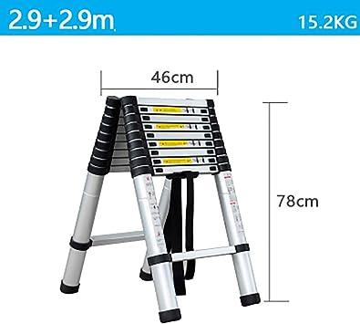 Telescópico Plegable Escalera,aluminio Aleación Escaleras De Mano Extensible Multifunción Escalera Portátil Escalera De Servicio Pesado-b4 2.9+2.9m: Amazon.es: Bricolaje y herramientas