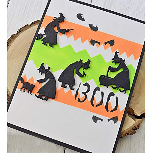 Davitu Halloween Boo Bat Plastic Stencil for DIY Scrapbooking Embossing Paper Card Decorative Handmade Craft Templates Drawing Sheet -