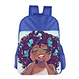 Black Africa American Girl Children School Backpack Carry Bag For Youth Boy Girl