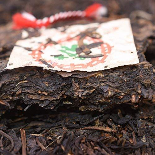 2003 Chinese tea green printing [15 years dry warehouse old Pu'er tea] Yunnan dry warehouse storage Treasure old tea [Yunnan Qizi cake tea] 2003 suppression conversion taste very good 12.59OZ / cake by NanJie (Image #2)