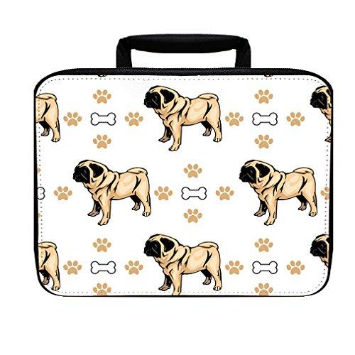 Bone Box Lunch (Pug Dog Bones Paws Insulated Lunch Box Bag)
