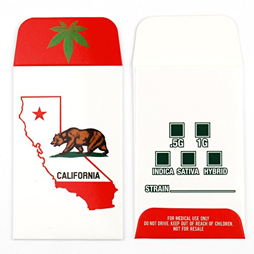 1000 CA California State Bear Glossy Shatter Labels Full Color Coin Wax Envelopes #049 by Shatter Labels