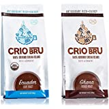Crio Bru Variety Pack Organic Herbal Tea Coffee Alternative Substitute 99% Caffeine Free Whole-30 Gluten Free Honest Low Calorie Energy Boost 10 oz, Ghana French + Ecuador (2 pack)