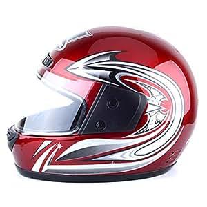 JT Moto Casco Eléctrico Vehículo Equitación Equipo Unisex Invierno Full Face Cascos,Red,33X26CM