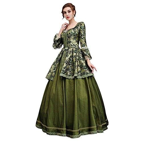 Zukzi Women's Floor Length Victorian Dress Costume Masquerade Ball Gowns, X7932, Customized by Zukzi (Image #1)