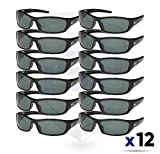Edge Eyewear TSR21-G15-7 Reclus Safety Glasses, Black with Polarized G and 15 Silver Mirror Lens (12 pack)