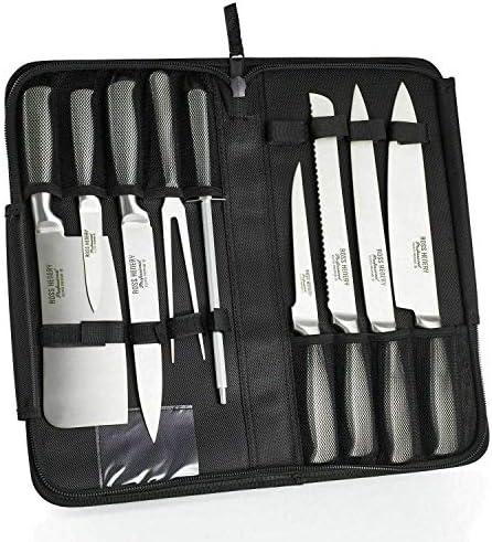 Compra Nuevo juego de cuchillos profesionales Eclipse de 9 piezas, provisto de estuche resistente con cierre de cremallera en Amazon.es