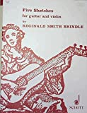 img - for Five Sketches for guitar and violin book / textbook / text book