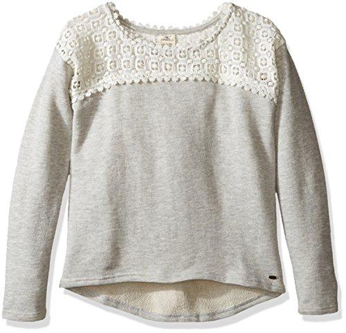 O'Neill Little Girls' Emma Pullover Fleece, Heather Grey, (Oneill Kids Sweater)
