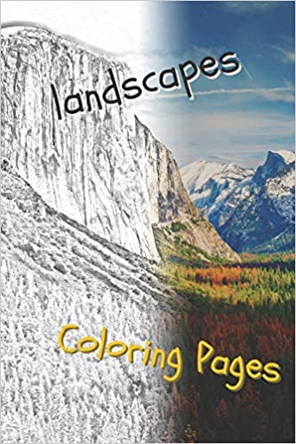 Amazon.com: landscape coloring pages: beautiful landscapes ...