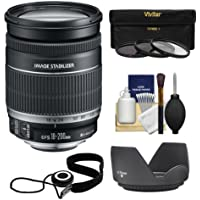 Canon EF-S 18-200mm f/3.5-5.6 IS Zoom Lens with 3 UV/FLD/CPL Filters + Hood + Kit for EOS 7D, 70D, Rebel T3, T3i, T5, T5i, SL1 DSLR Cameras