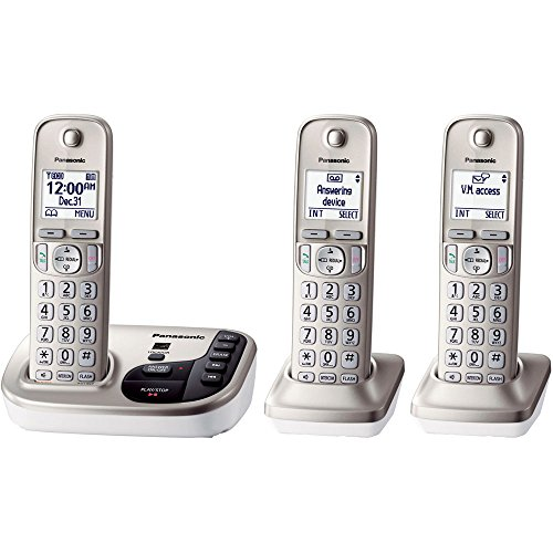 Panasonic KX-TGD223N dect 6.0 3-Handset Landline Telephone (Panasonic Cordless Phones Silver compare prices)