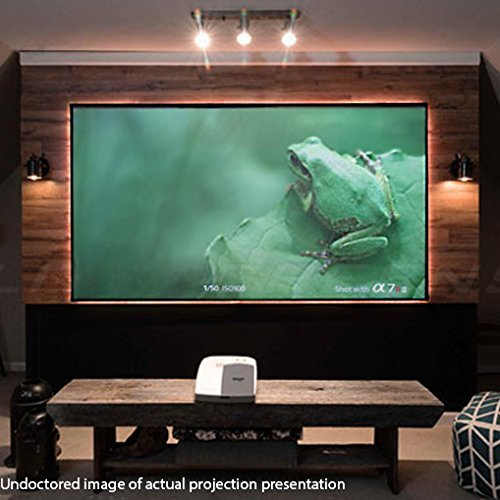 Elite Screens Aeon CLR Series, 90-inch 16:9, Edge Free Ambient Light Rejecting Fixed Frame Projector Screen, Ceiling Light Rejecting Projection Material for Ultra-Short Throw Projectors, AR90H-CLR ()