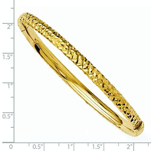 12 mm 14 carats-Diamant JewelryWeb Bracelet avec charnière