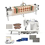 Juki DNJuki TL-2010Q 9' Long-arm Machine, GQ Quilting Table, SureStitch Regulator, Pattern Templates, 100 Needles, 20 Bobbins, Extension Table & QuiltCAD Pattern Design Software