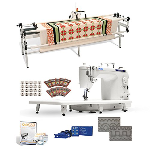 "Juki TL-2010Q 9"" Long-arm Machine, Grace Continuum Quilting Frame, SureStitch Regulator, Pattern Templates, 100 Needles,"