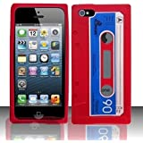iPhone 5 Silicone Cassette Tape Case - Red