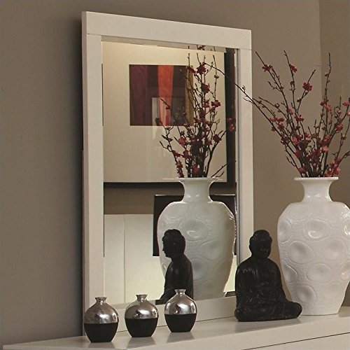 Dresser Ash Contemporary (Coaster Home Furnishings Jessica Rectangular Mirror White)