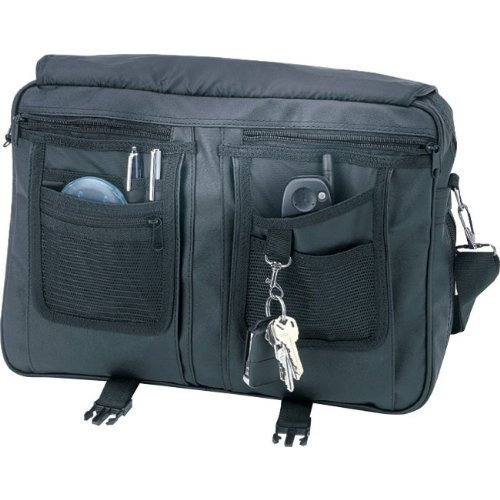 Leatherette Expandable Sales Executive Briefcase- Black