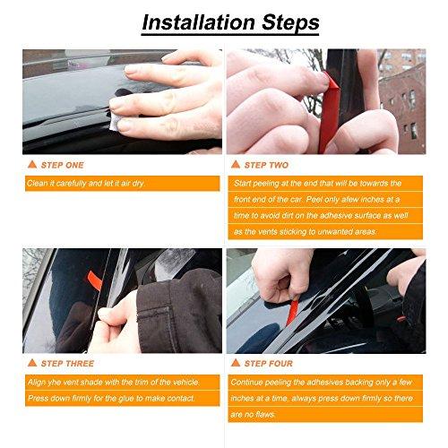 4pcs Fit 11-15 Kia Sorento Sun//Rain Guard Wind Deflector Vent Shade Window Visor