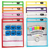 Image of [15 Pack] 10x14 Premium Reusable Dry Erase Pockets with Unlimited WORKSHEETS & Free Bonuses. Each Heavy Duty Dry Erase Pocket Ideal for Office, School Supplies, Classroom Supplies by ReadySet
