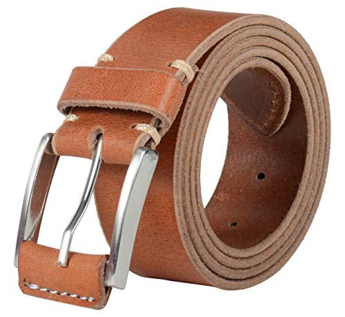 (Leather Architect Men's Real Hand Stitch Belt 42