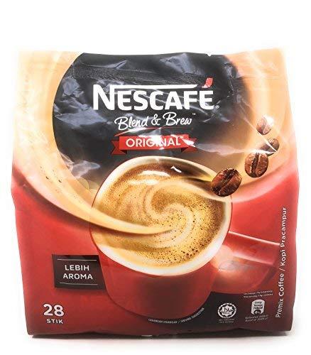 Nescafé 3 in 1 Instant Coffee Sticks ORIGINAL - 28 Serving Cold Or Hot Coffee Best Asian Nescafe Coffee - Great Taste - Unforgettable Taste