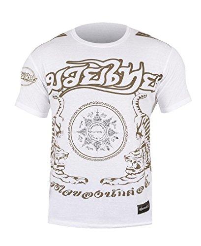 Hayabusa Men's Muay Thai Tee Shirt Large White