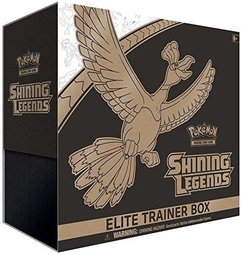 Pokemon Elite Trainer Box - Shining Legends Collectible Cards, Dice and Competition Training Set, Includes 10 Booster Packs, Ho-Oh Foil, Players Guide, 6 Damage Counter