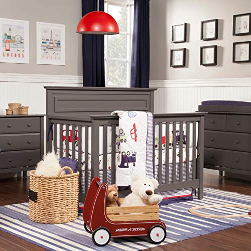 51vysyk6MsL - DaVinci Autumn 4-in-1 Convertible Crib In Slate, Greenguard Gold Certified