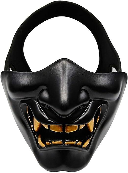 Vxhohdoxs Máscara de media cara para cosplay, Kabuki, Samurai ...