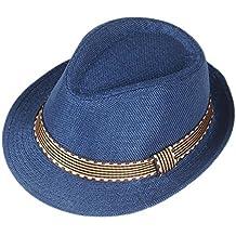 Elee Unisex Children Kids Rolled Snap Brim Trilby Fedora Hat Jazz Cap Band