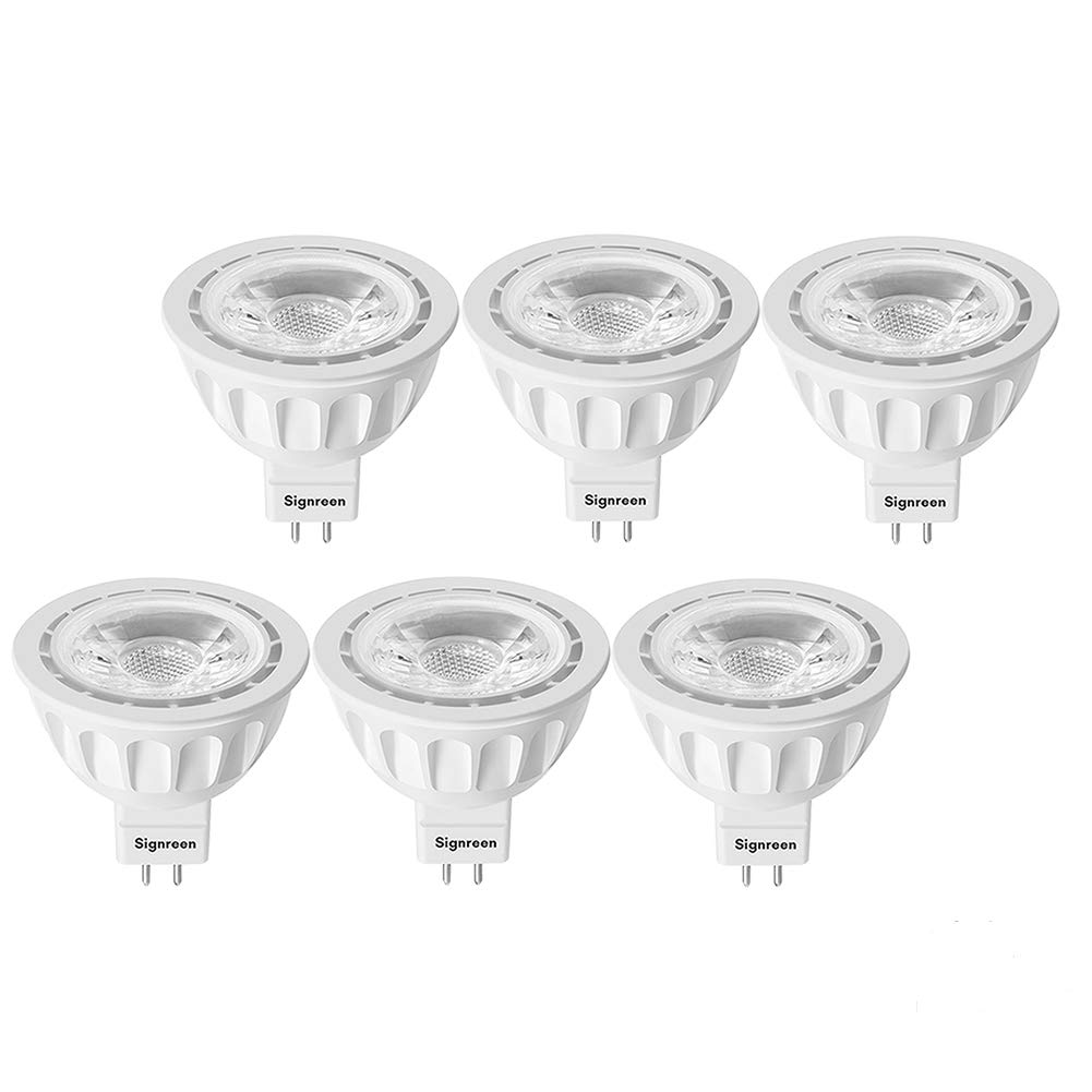MR16 GU5.3 LED Light Bulbs - Signreen 50W Equivalent Halogen Bulbs, Warm White 2700K 12V 5W LED Spotlight Light, 40 Degree, Non-Dimmable, 5 Years Warranty 6 Packs by Signreen