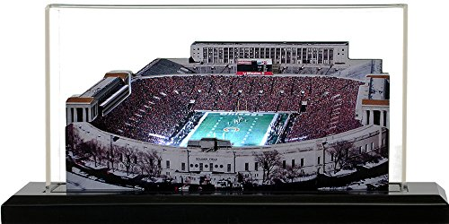 Chicago Bears Soldier Field (1970-2001), Small Lighted in Display Case