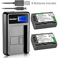 Kastar Battery (X2) & LCD Slim USB Charger for Sony NP-FP51 NP-FP50 and DCR-30 DVD105 DVD203 DVD305 DVD92 HC20 HC21 HC26 HC30 HC32 HC36 HC40 HC42 HC46 HC65 HC85 HC96 SR40 SR60 SR80 SR100 TRV460E