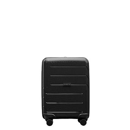 PACO MARTINEZ | Maleta de Cabina Airbox Polipropileno 4 Ruedas 55x40x20 Negro| Apta compañías aéreas Low-Cost
