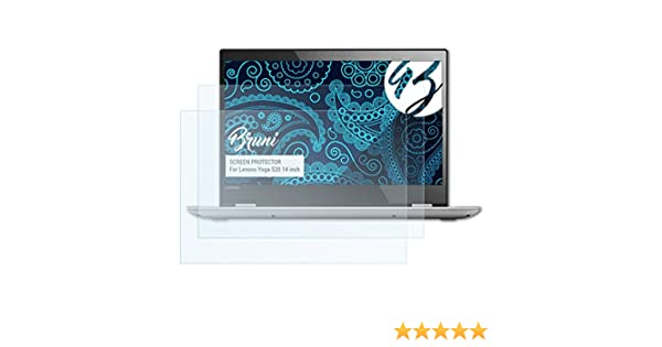 Bruni Película Protectora para Lenovo Yoga 520 14 Inch Protector Película, Claro Lámina Protectora (2X)