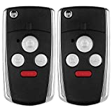honda accord 4 button flip key - ECCPP 4 Buttons Keyless Entry Replacement Folding Switch Modify Flip Remote Fob Key Shell Case For HONDA (Pack of 2)