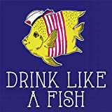 Ideal Home Range 20-Count Rosanne Beck Boho Animals Paper Cocktail Napkins, Drink Like a Fish