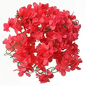 Rose Flower Wall Backdrop - Wedding Home Decor Artificial Fake Azalea Flower Vine Plants Garland 2m - Flowers Dried Artificial Artificial Dried Flowers Azalea Flower Garland Lepin Tank Stri 112