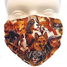 Dogs Brown Dust & Allergy Mask - by Breathe Healthy. Comfortable, Reusable Face Mask - Ideal for Dog Grooming - Protection from Dander, Hair, Dust, Pollen, Allergens & Germs with Antimicrobial