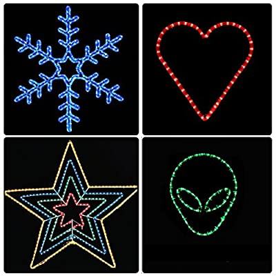 Yescom 2 Wire LED Rope Light Indoor Outdoor Home Holiday Christmas