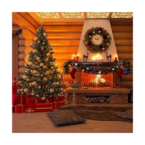 WELLXUNK Palline di Natale, 24pcs Albero di Natale Palla Decorazioni, Palline di Natale Opache, Palline di Natale Infrangibili, Palle infrangibili per Decorazioni Natalizie da Appendere (Verde) 6 spesavip
