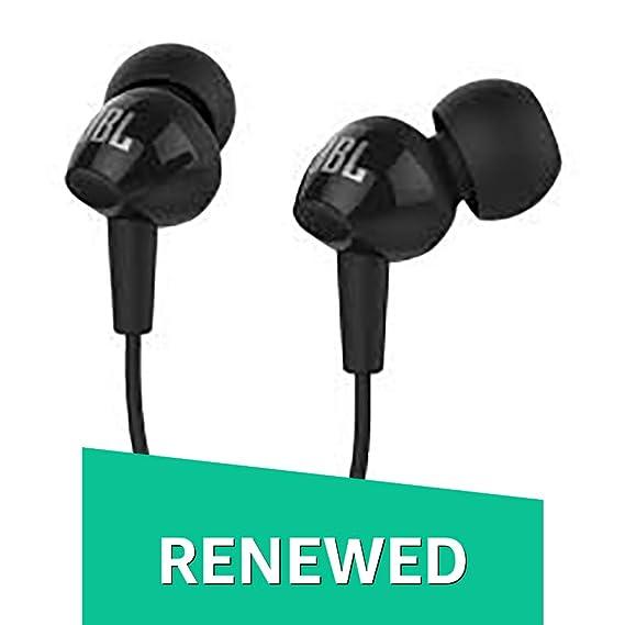 Renewed  JBL C150SI in Ear Earphone  Black  In Ear Headphones