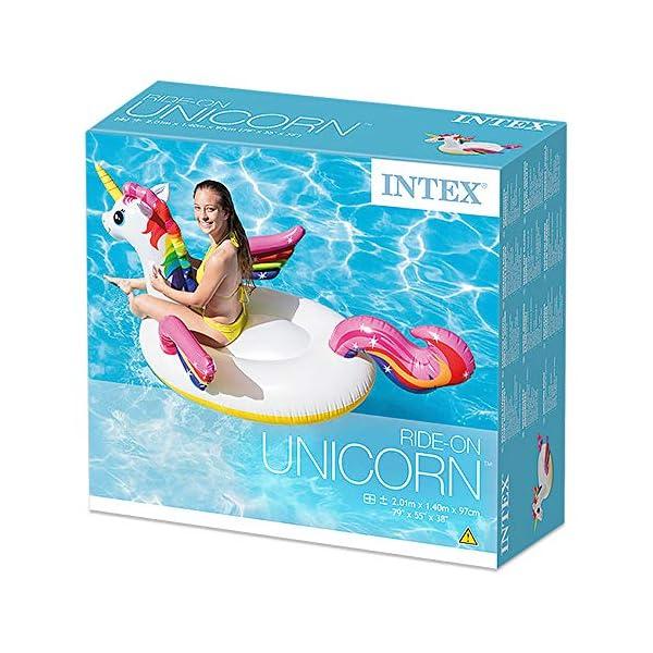 Intex 57561 - Cavalcabile Unicorno, Multicolore, 198 x 140 x 97 cm 4 spesavip