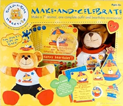 5e0f87affa9 Image Unavailable. Image not available for. Color  Colorbok Build A Bear  Birthday ...