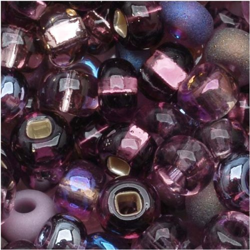 Czech Seed Beads 6/0 ''Purple Passion'' Mix (1 -